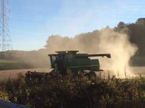 To harvest our corn and soybeans we use a piece of equipment called a combine.